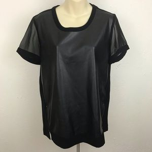Calvin Klein Faux Leather Top